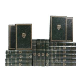 Green & Gilt Harvard Classics - Set of 18