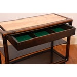 Image of Mid-Century Modern Wood & Marble Serving Cart