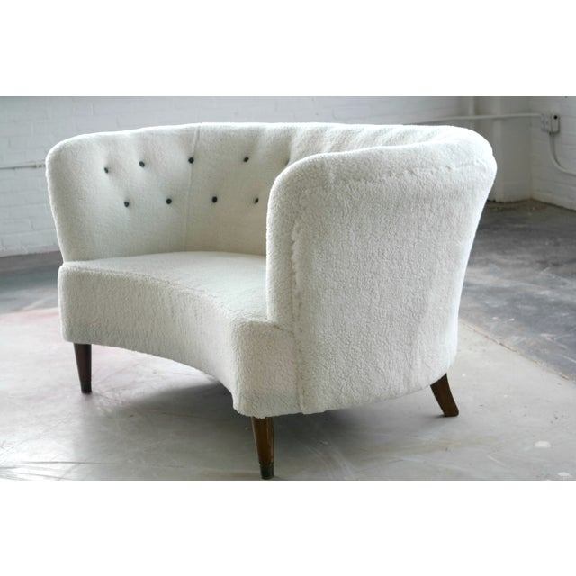 Vintage Slagelse Moebelvaerk Danish Loveseat - Image 4 of 8