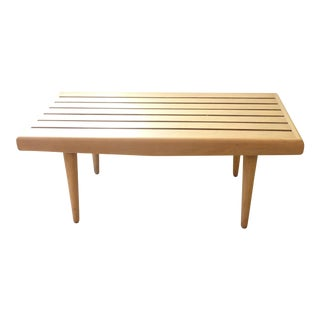 Modern Low Slatted Table or Bench