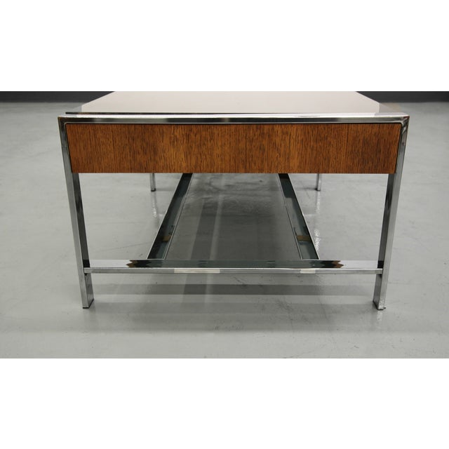 Mid-Century Modern Chrome And Glass Coffee Table - Image 6 of 6