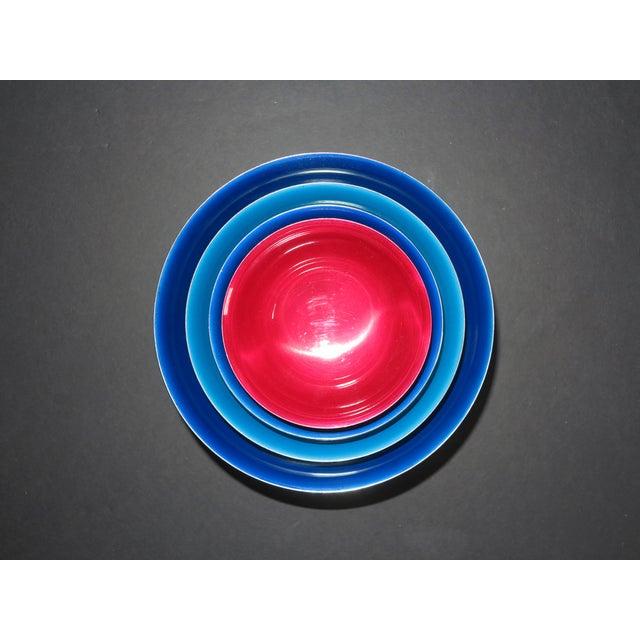 Reed & Barton Revere Silverplate Enamel Bowls - Set of 4 - Image 4 of 5
