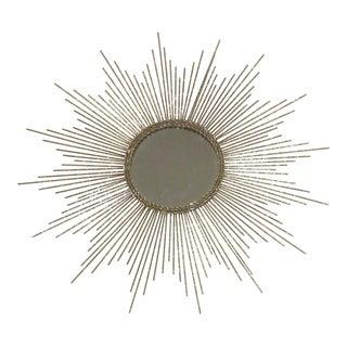 Mid-Century Modern Style Gold Leaf Sunburst Mirror