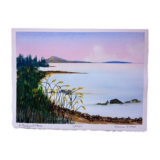 Seascape Watercolor Painting by Cameron O'Neal