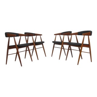 Danish Teak Dining Arm Chairs