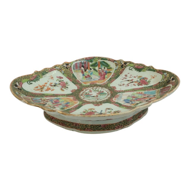 Image of Chinese Canton Famille Rose Serving Platter