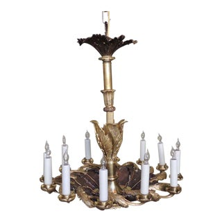 19th C French Régence Bronze Doré Chandelier