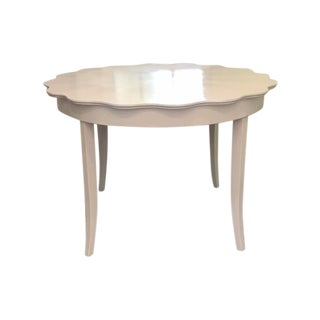Scalloped Edge Dining Table