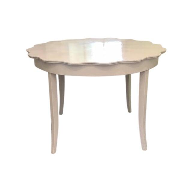 Scalloped Edge Dining Table Chairish