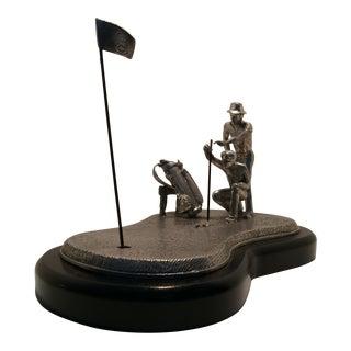 "Mullingar Pewter ""The Professionals"" Cast Golf Sculpture"