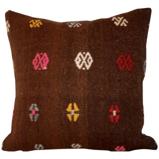 Vintage Bohemian Square Handmade Kilim Pillow