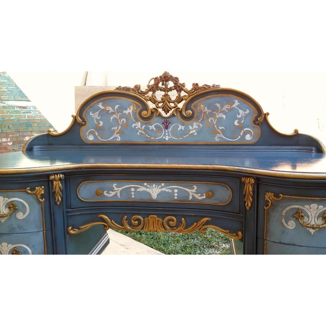 Hand-Painted French Desk - Image 7 of 10