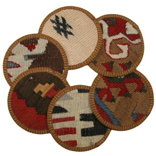 Kilim Coasters Set of 6 - Manyas