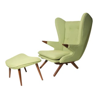 Model 91 Papa Bear Chair & Ottoman by Svend Skippe