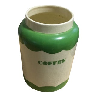Mid-Century Ceramic Kitchen Coffee Canister