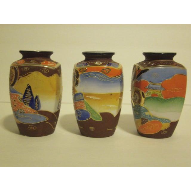 Vintage Japanese Satsuma Vases - Set of 3 - Image 8 of 10