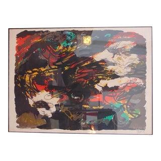 Signed 1962 Karel Appel Lithograph