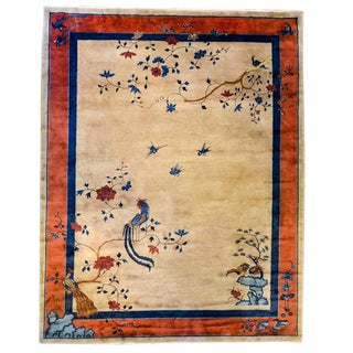 Chic Early 20th Century Chinese Art Deco Rug