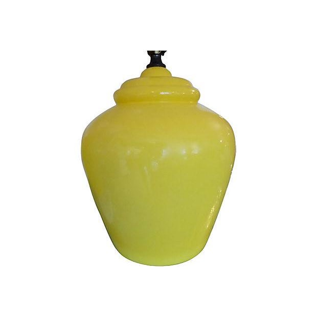 Daffodil Mid-century Ceramic Lamps- A Pair - Image 3 of 5