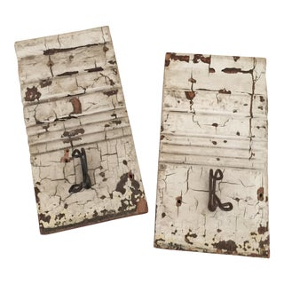 Solid Reclaimed Wood Hooks - A Pair