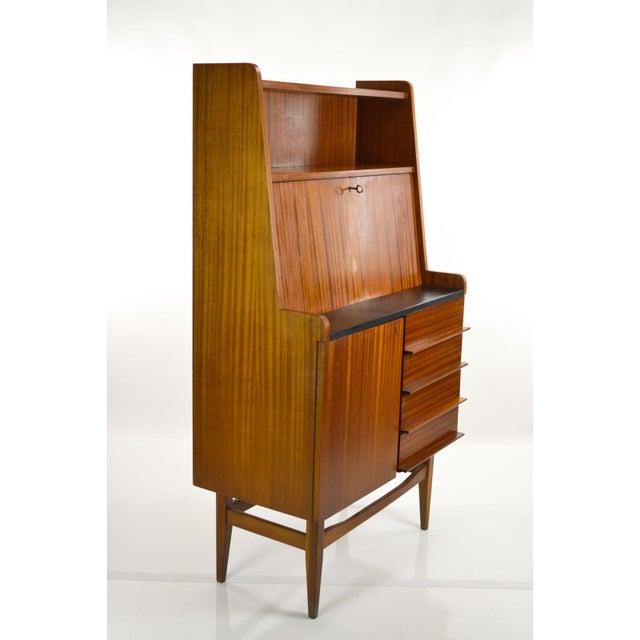 Modern Danish Style Teak Cabinet With Drop Front - Image 6 of 10