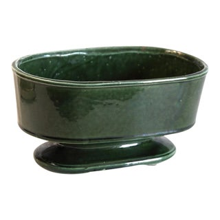 Oblong Dark Green Planter