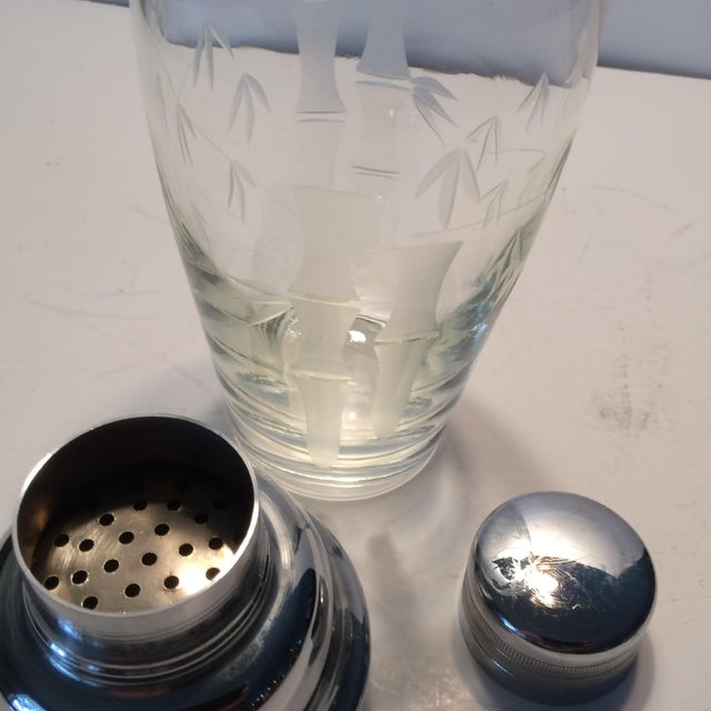 Image of Vintage Noritake Sasaki Crystal Cocktail Shaker