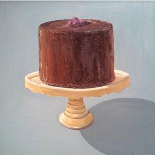 Chocolate Raspberry Cake Print by Paula McCarty