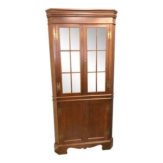 Craftique Solid Mahogany Corner Cabinet