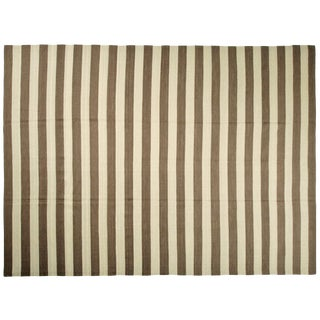 "Striped Egyptian Kilim Rug -- 8'10"" x 12'1"""