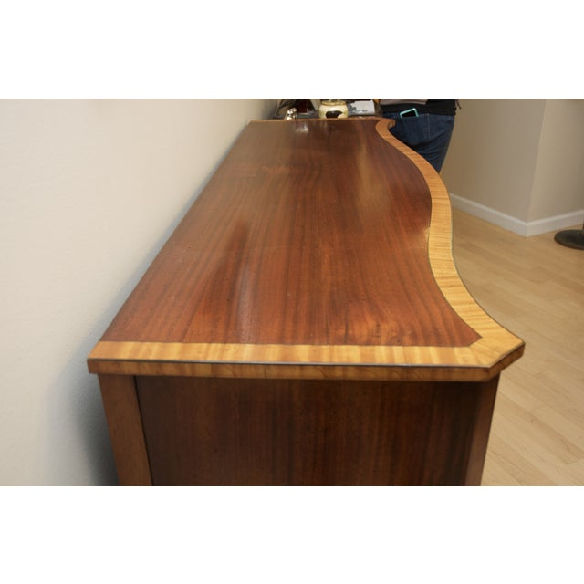 Antique Mahogany Serpentine Buffet Sideboard - Image 2 of 10