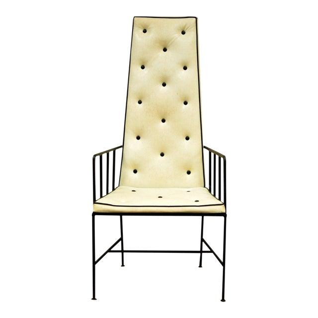 Vintage Mid Century Modern Wrought Iron Arthur Umanoff Paul McCobb Arm Chair - Image 1 of 11