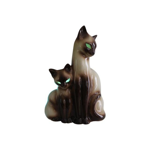 Vintage Ceramic Siamese Lamp - Image 1 of 8