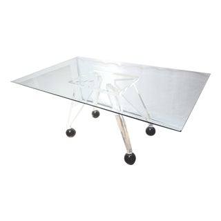 Mid-Century Modern Lucite & Glass Dining Table