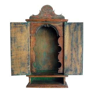Antique 19th Century Brazilian Baroque Oratory Wood Altar Piece