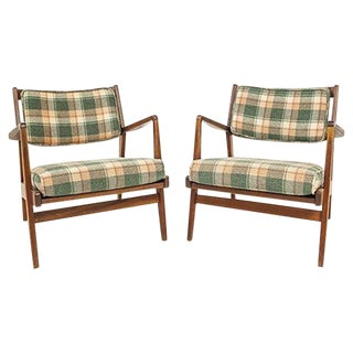 Jens Risom Lounge Chairs - Pair