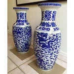 Image of Chinese Blue & White Vases - Pair
