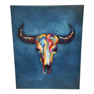 Colorful Skull Canvas Wrap