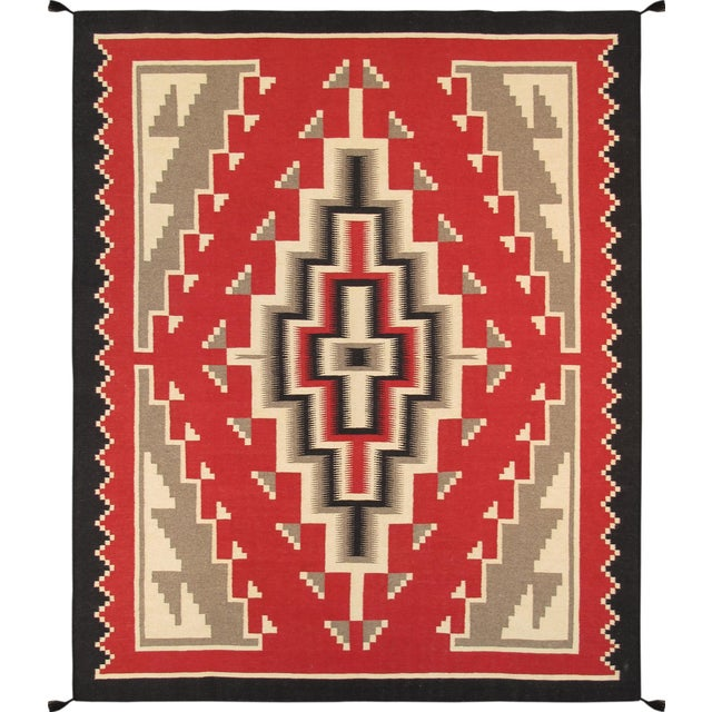 Image of Navajo Decorative Hand-Woven Rug - 8' X 10'