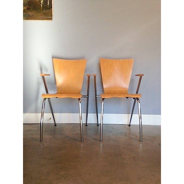 Gordon International Bentwood Arm Chairs - Pair - Image 2 of 6