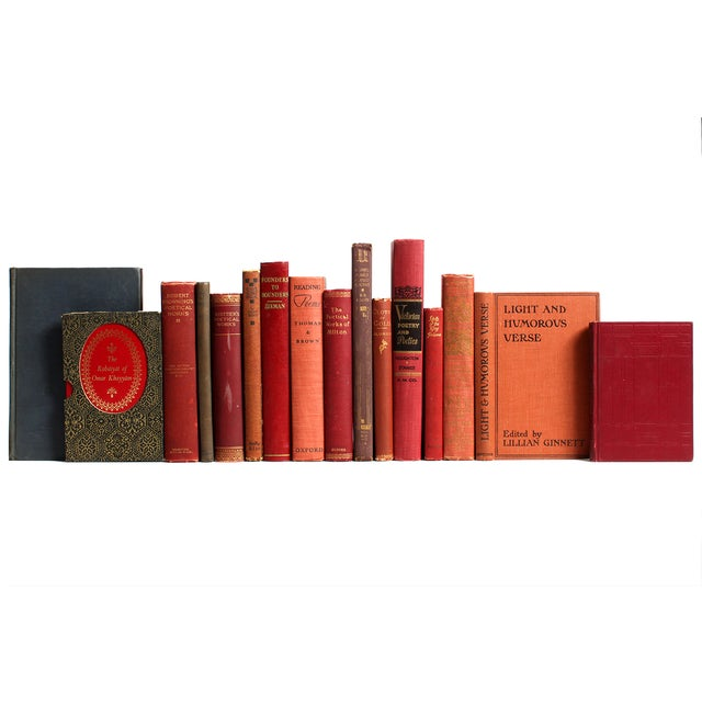 Distressed Red & Brown Poetry Books - Set of 16 - Image 2 of 2
