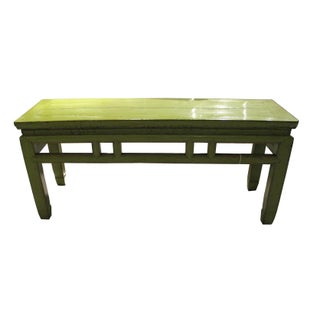 Chinoiserie Lime Bench