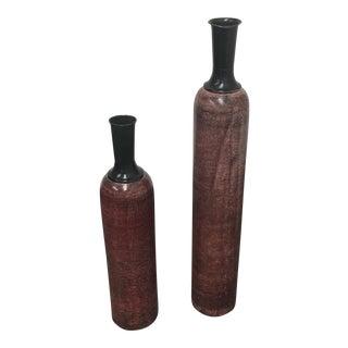 Painted Metal Vessels - A Pair