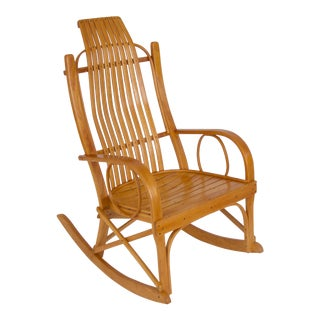 Bentwood Adirondack Rocking Chair with Slatted Seat