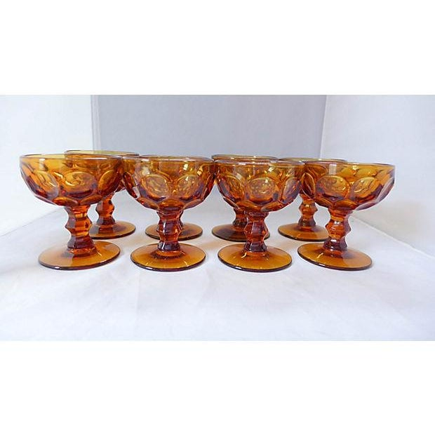 Amber Sherbet Glasses - Set of 8 - Image 2 of 6