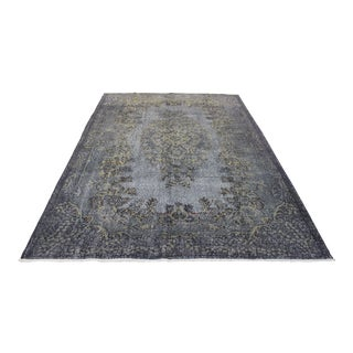 Gray Turkish Overdyed Rug - 6' X 8'9""