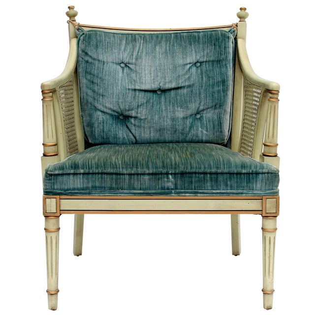 Caned Accent Chair - Image 1 of 9