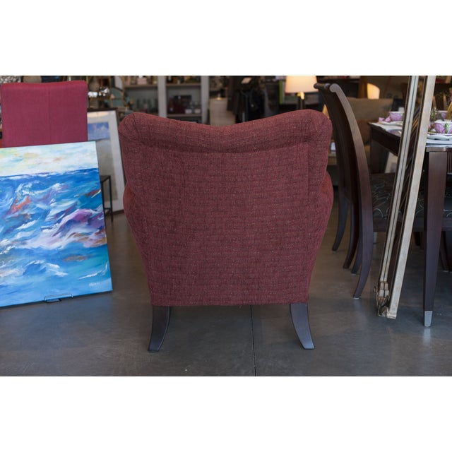 Casual Red Upholstered Accent Chair - Image 3 of 4