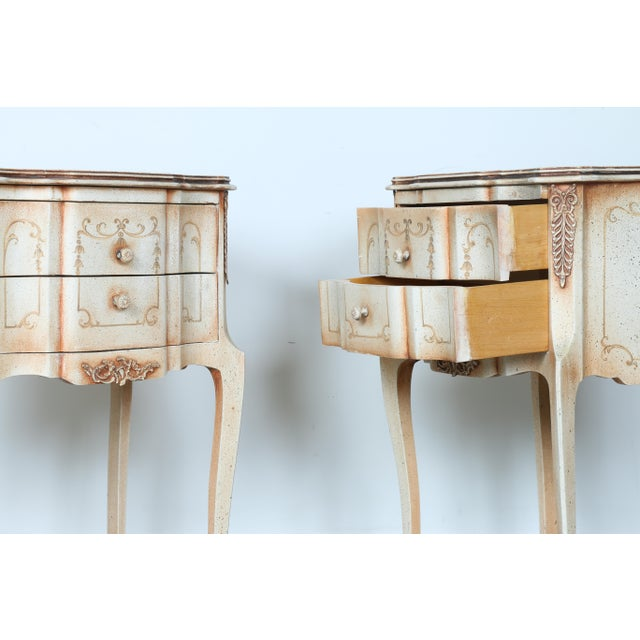French Style Nightstands - A Pair - Image 5 of 11