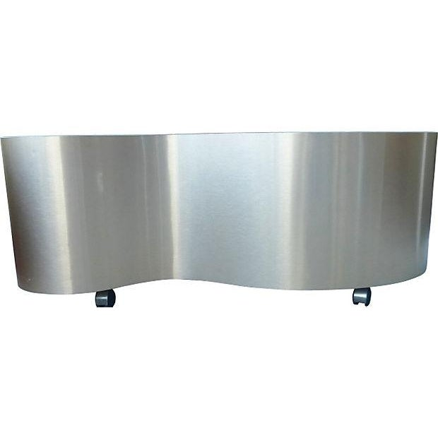 Bean Shape Coffee Table on Casters - Image 3 of 4
